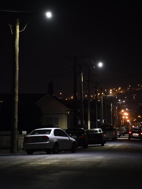 Dunedin's new LED street lights like the ones being trialled in Melbourne St can have sensors added to them to monitor traffic and pedestrian movements in the city, although the Dunedin City Council says it has no plans to use the technology at this stage