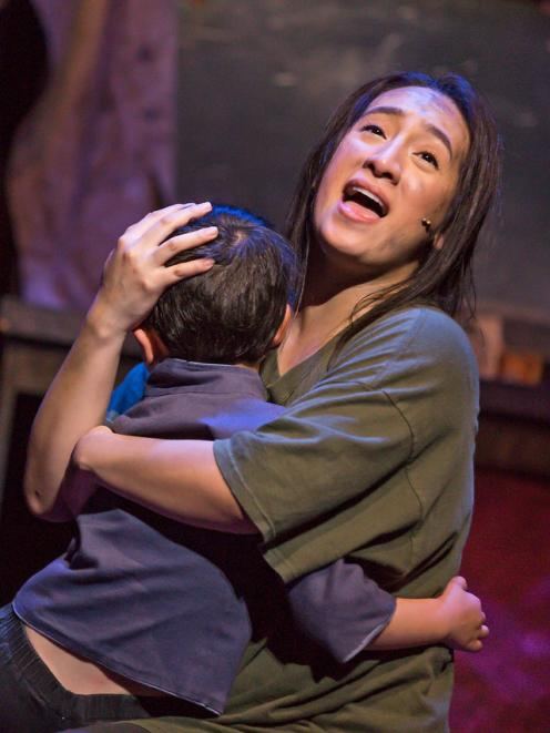 Tina Bergantinos-Panlilio as Kim portrays the unbreakable bond a mother has with her child in Miss Saigon.