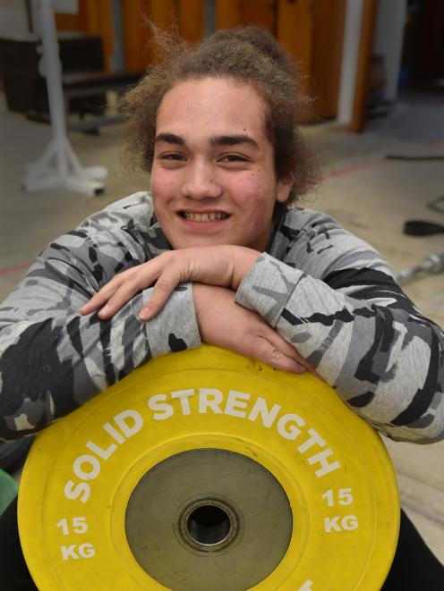 Patrick Sefo-Cloughley is making great progress in weightlifting. Photo: Gregor Richardson