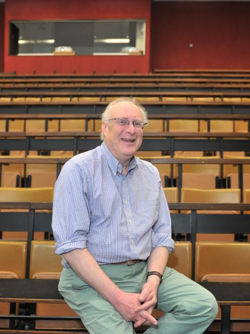 Prof Paul Roth, after giving his final law lecture at the University of Otago. Photos: Christine...
