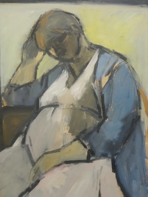 Pregnant Self-Portrait, July 1984.