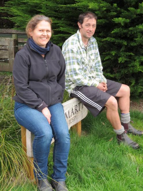 Brent and Heather Busby, of Cromarty Texel Stud, Invercargill, are pleased with the second crop of lambs from imported Scottish Texel genetics. Photo: Yvonne O'Hara