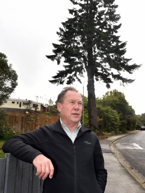 Wakari resident Tony Montgomerie, one of the residents opposed to the felling of the tree in the...