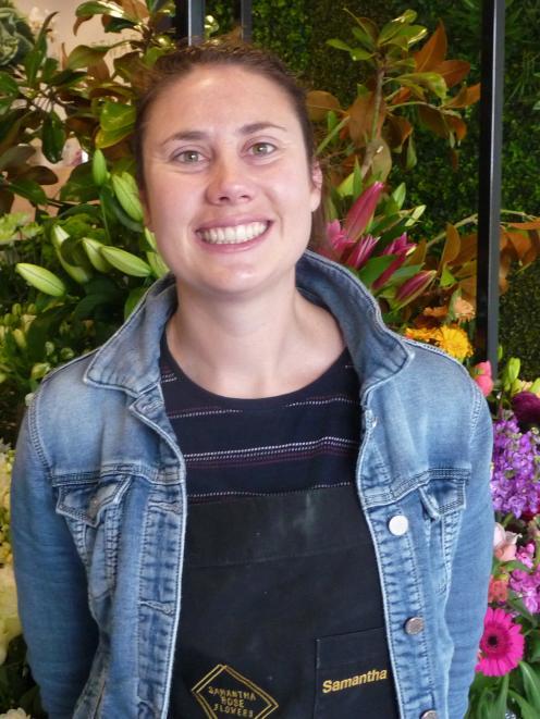 Ashburton florist Samantha Trott is helping promote New Zealand Flowers Week.