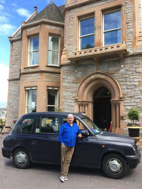 Billy Scott and his ''London Black Cab''.