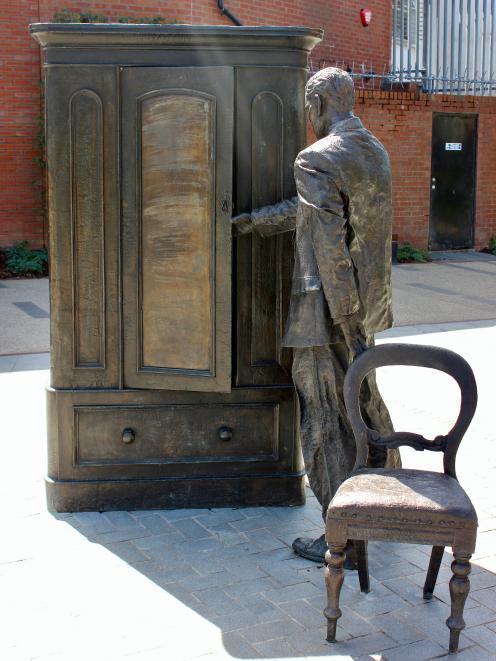 Sculpture in C.S. Lewis Square, Belfast.