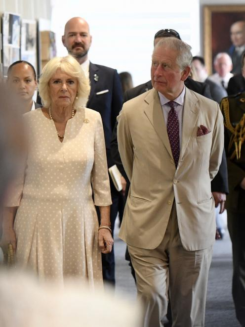 Prince Charles and Duchess Camilla at Cashmere High School.