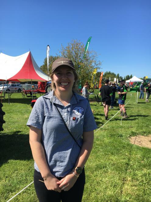 Waimakariri Young Farmers' Club member Ashleigh Foley was overseeing the Tasman North district...