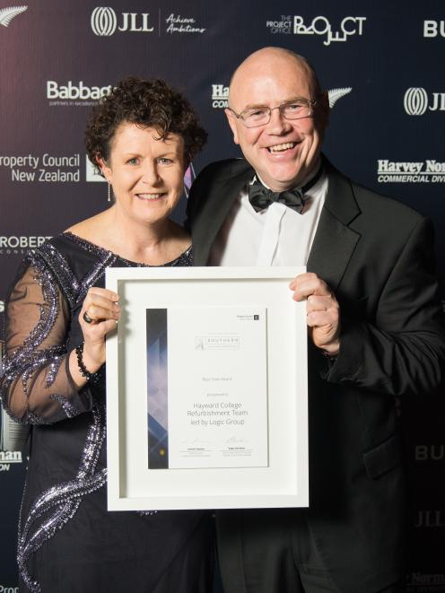 Property Council chief executive Leonie Freeman and Logic Group director Sam Cadden hold the best...