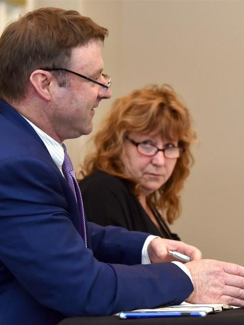 New Zealand First Central Otago list MP Mark Patterson and Dunedin South Labour MP Clare Curran...