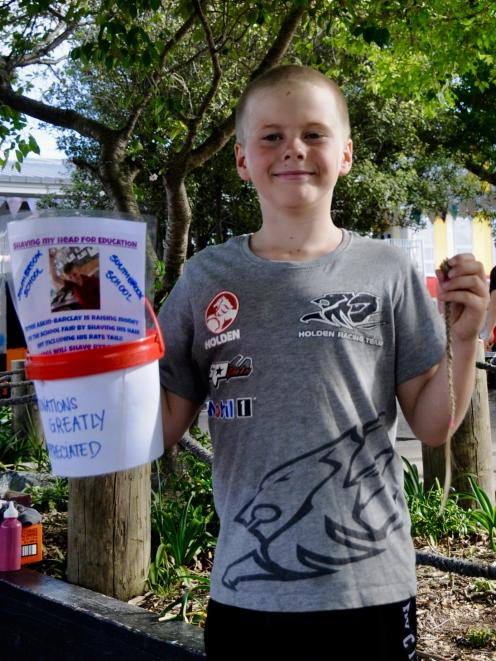 Southbrook School pupil Ryder Askin-Barclay, aged 9, raised $600 for his school after deciding to...