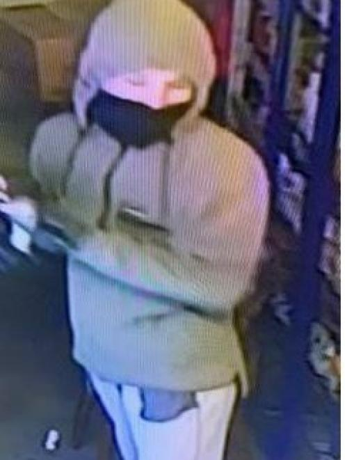 This person is being sought after the Salford St Dairy in Invercargill was robbed last week. Photo: Supplied