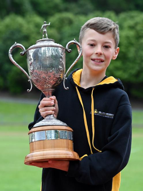 Ness Cup winner Matthew Bolter (13), of Hill City-University. He was the first Otago-registered...