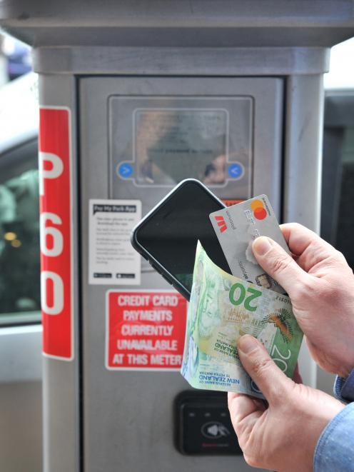 The convenience of cellphone payment is no longer available in Dunedin. Photo: Christine O'Connor
