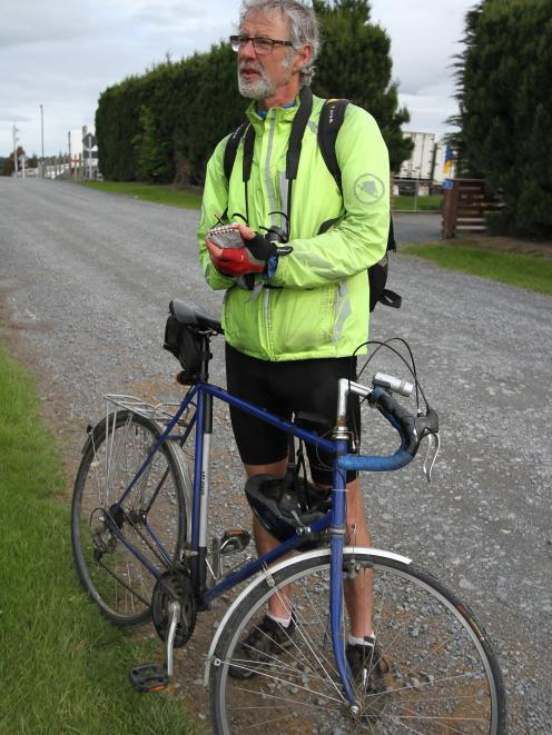 Balclutha birder Richard Schofield's bike is a valuable addition to his birding gear, allowing...