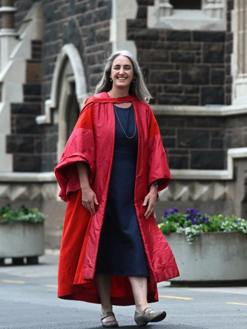 Carol Atmore prepares for her graduation today when she will be wearing the Royal College of...