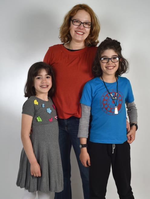 Georgina, Tom (10) and Nina