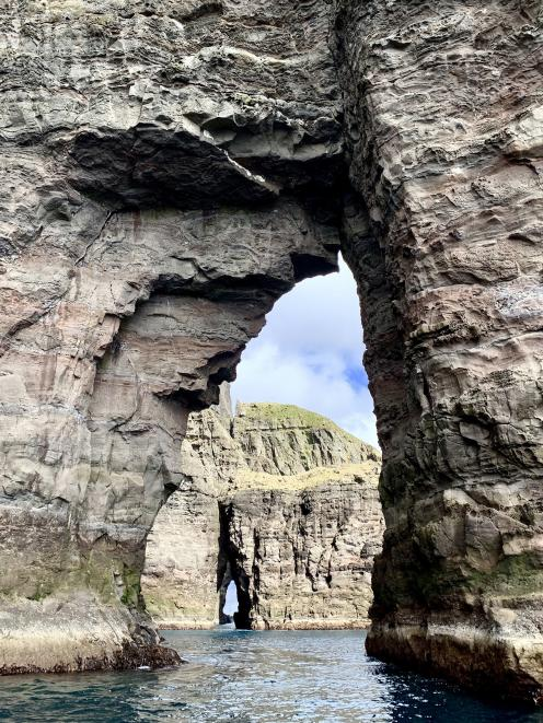 The Vestmanna bird cliffs and caves in the Faroe Islands.