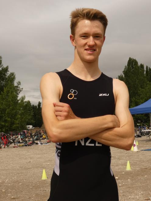Wanaka triathlete Janus Staufenberg was all smiles following his win in the triathlon sprint yesterday.