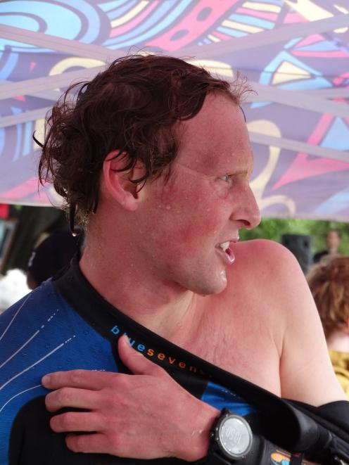 Cameron Stanley at the Ruby Swim in Lake Wanaka on Saturday.