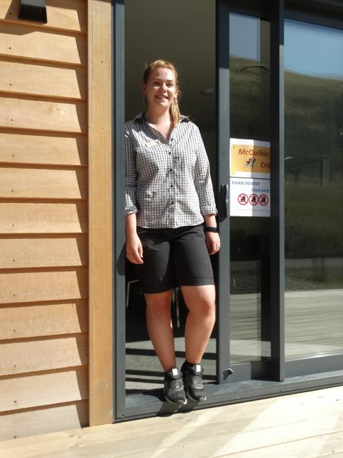 Real Journeys employee Grace Williams at her staff quarters at Walter Peak.
