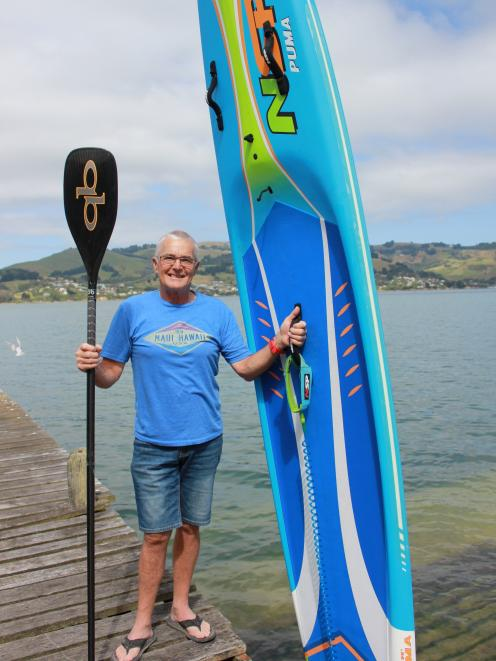 Paddleboarder Garry Porter prepares to win more medals in the New Zealand Masters Games next week...