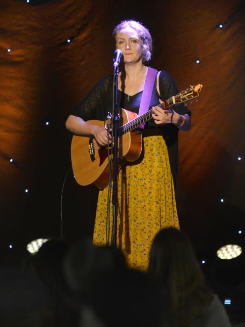 Dunedin singer Lana Rose entertains the crowd.