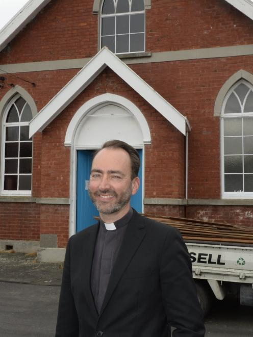 Anglican Parish of Dunedin North vicar the Rev Michael Wallace says demolition of the parish's St Martin's Hall in North East Valley could pave the way for new houses for those in need. Photo: Gregor Richardson
