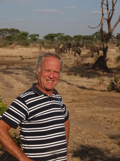 Dave Fitzjohn exploring nature in Botswana, Africa, after driving up from Cape Town. Photo: Supplied