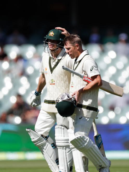 Steve Smith and David Warner at Adelaide Oval in November. Photo: Getty Images