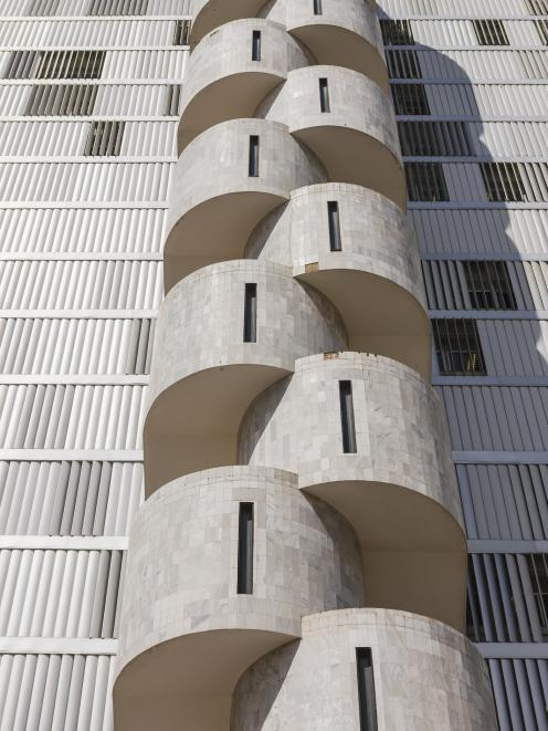A stairwell of the side of a building in Brasilia's Federal District. Photo: Getty Images