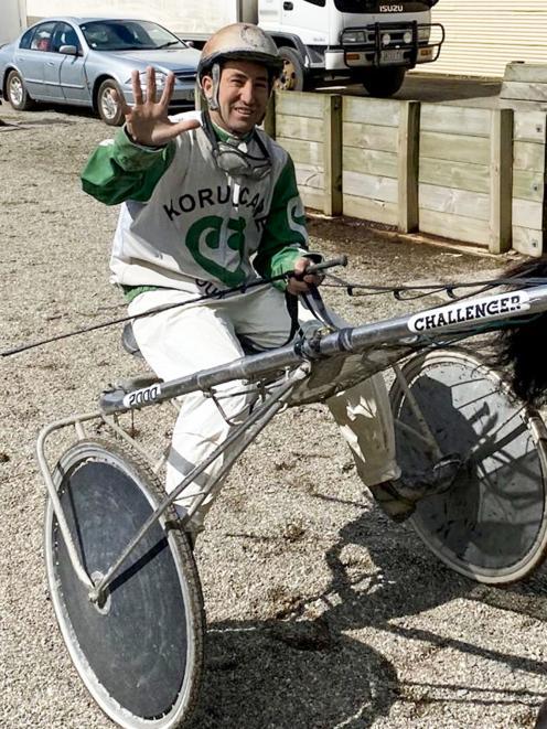 Oamaru driver Matthew Williamson drove five winners at Gore on Saturday. PHOTO: JONNY TURNER