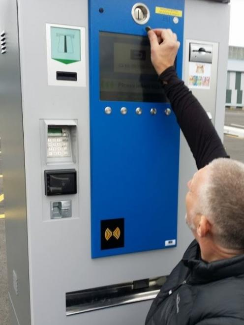A parking ticket machine is set too high making it difficult for John Marrable and other...