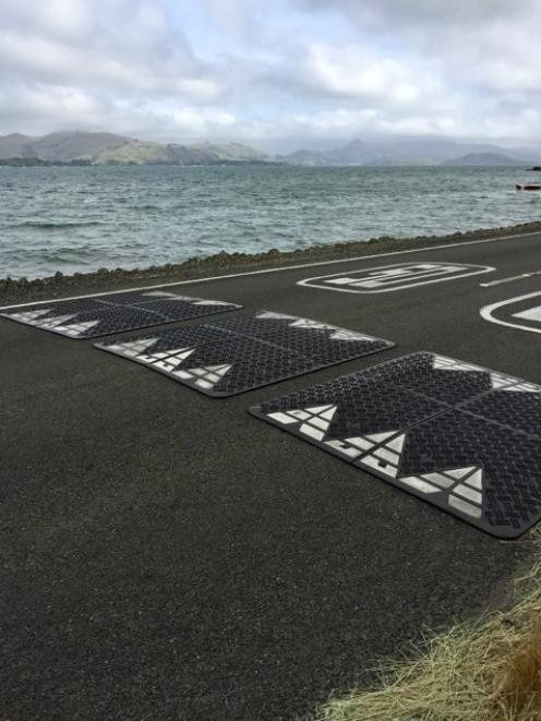 The temporary speed humps at Te Ngaru, near Aramoana, are a topic of community debate in the area...