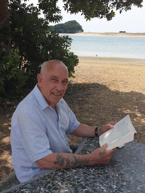 John Dennison relaxes at Mangawhai before his return to Dunedin soon to start organising this year's Big Heart Appeal in Dunedin. PHOTO: SUPPLIED