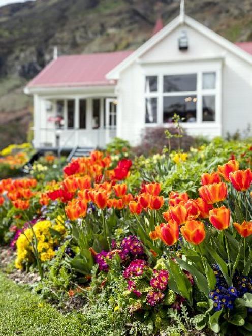 The four-star Walter Peak garden.