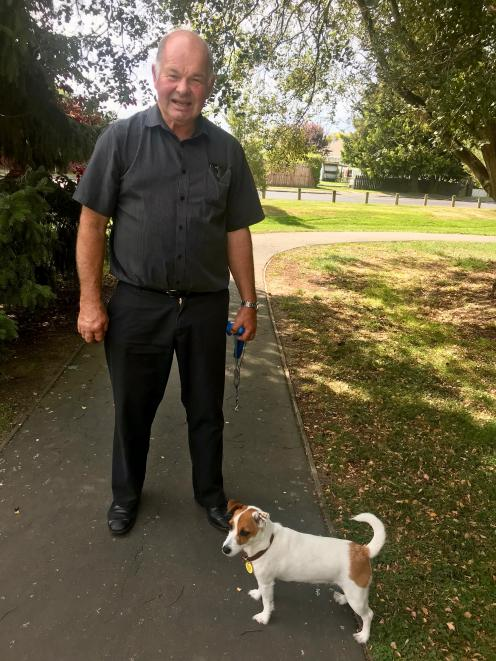 Festival of the Plain chairman Ian Chalmers and his dog Gipsy check out the trike-a-thon route...