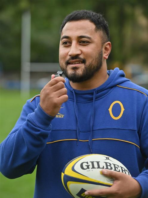 Tumua Ioane is the new referee education officer for the Otago Rugby Football Union and is out looking for referees. Photo: Linda Robertson