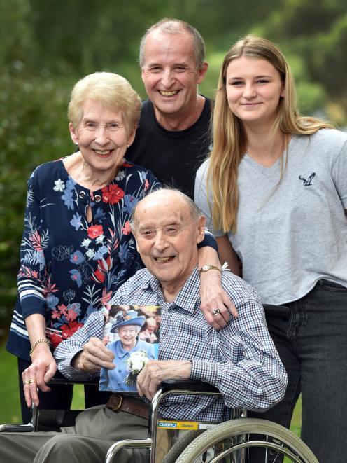 Wil Thomas celebrates his 100th birthday with wife Audrey (87), son Arwel ...