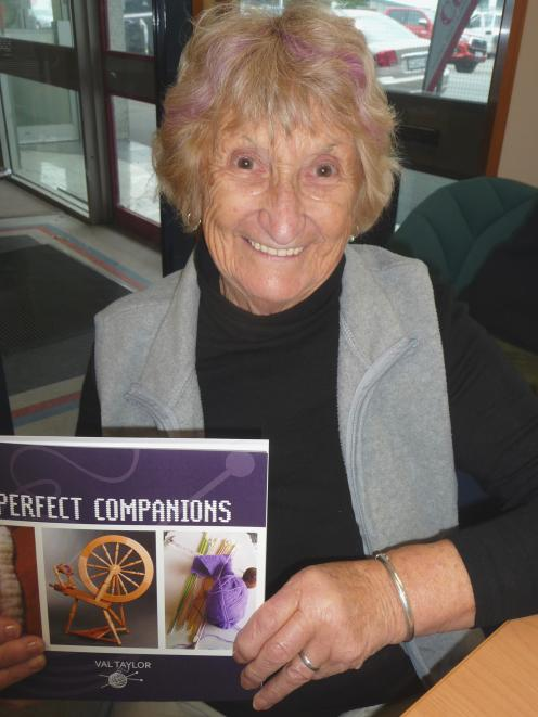 Ruapuna author Val Taylor with her latest book Perfect Companions.