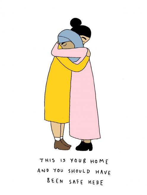 The illustration, created by former Dunedin artist Ruby Jones, which went viral after the March...