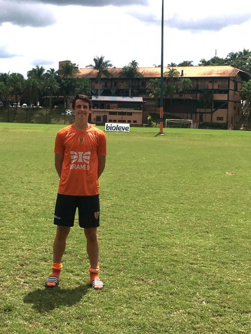 Ben Lund at the Brasilis FC training camp this week.PHOTO: SUPPLIED
