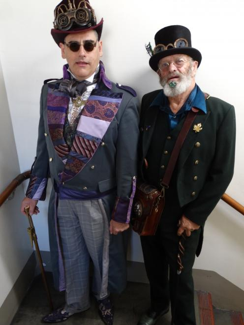 Dunedin steampunk  aficionados Captain Roscoe Dangerfield (Ross McKay,  left) and Lord Lucerne...