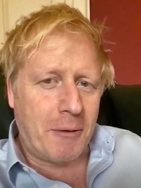 Boris Johnson remains in a central London hospital. Photo: Twitter/Boris Johnson via Reuters