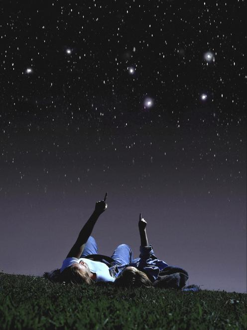 Something as simple as lying on the grass and looking up at the stars has a positive effect our...