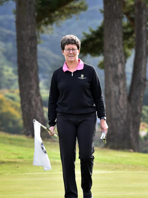 Otago Golf Club director Shelley Duncan prepares for the sport's return. PHOTO: PETER MCINTOSH