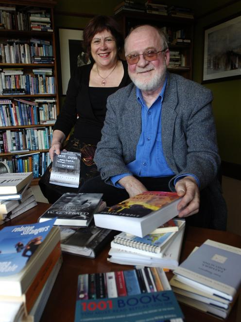 Diane Brown and Philip Temple, here, in 2007, with some of their output, including writing from a...
