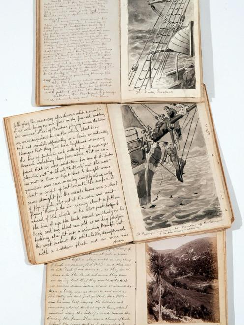 Sketches: The journey out. Photograph: Whare Flat. IMAGES: COURTESY OF DUNBAR SLOANE LTD, WELLINGTON