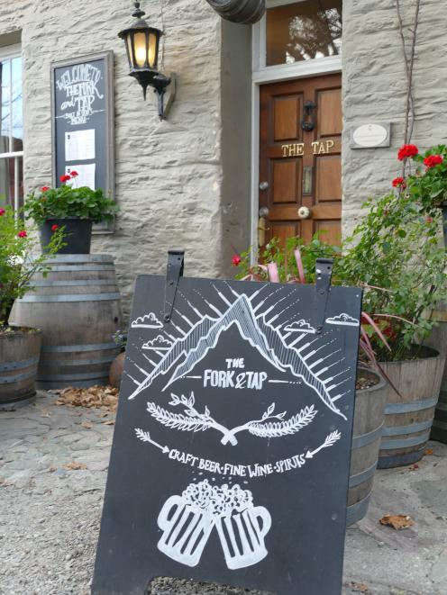 The Tap and Fork, a busy gastro pub in historic Arrowtown.