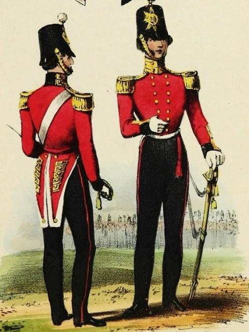 The uniform of the 70th Foot in the mid 19th century.